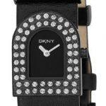 DKNY – NY3914 – Montre Mode Femme – Quartz analogique – Bracelet en Cuir noir
