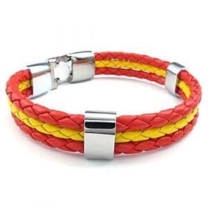 Espagne blueqier Bracelet de Bracelet unisexe Bracelet pour événements sportifs et célébrations nationales