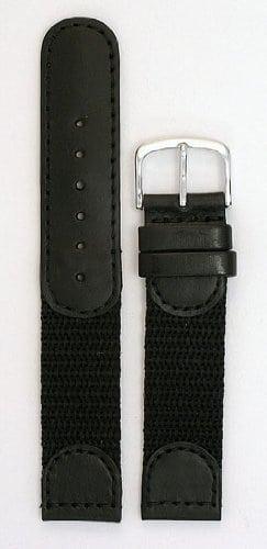 pour Homme Swiss Army Style Bracelet–Couleur Noir Taille: 20mm de Long Bracelet de Montre