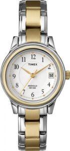 Timex – T25771 PF – Montre Femme – Timex Original – Quartz analogique – Cadran Rond en Métal – Fond Blanc – Bracelet en acier inoxydable