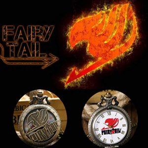 Montre De Poche Steampunk modèle Hommes Chaîne Quartz chiffres arabes Les enfants regardent le cadeau (Fairy Tail)