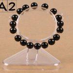 Acrylique Jade Bracelet Présentoir Transparent Bracelet Bracelet Montre Stand Bijoux Organisateur Rack Vitrine Titulaire A2 Type(Color:Transparent)