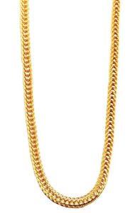 Akzent–Collier Serpent en acier inoxydable avec revêtement or IP, longueur 70cm + rallonge 5cm/Épaisseur 3mm
