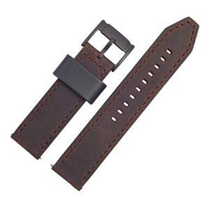 Bracelet montre fossile 22 mm en cuir marron – Bracelet de montre FS-4656