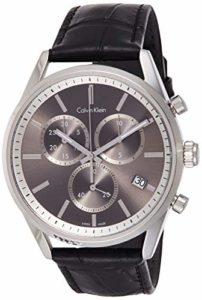 Calvin Klein Hommes Chronographe Quartz Montre avec Bracelet en Cuir K4M271C3