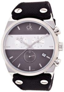 Calvin Klein Montre Bracelet Quartz chronographe Caoutchouc K4B371B3