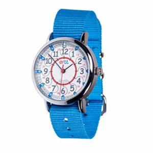 Easyread time teacher ERW-RB-24 Montre Rouge/Bleu 24 heures Bracelet Gris, bleu, 1