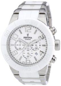 Festina – F16576/1 – Montre Mixte – Quartz Chronographe – Bracelet Acier Inoxydable Multicolore