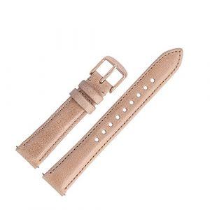Fossil – ES-4007 – Bracelet de montre – Cuir – Beige – 16 mm