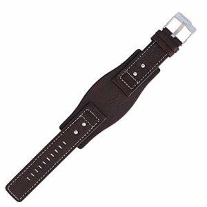 Fossil JR-9990 Bracelet de Montre en Cuir Marron 24 mm