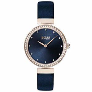 Hugo Boss Femmes Analogique Quartz Montres bracelet avec bracelet en Cuir – 1502477