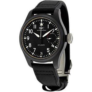 IWC Big Pilot Top Gun automatique Cadran noir montre pour homme Iw502001