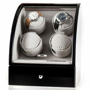 JF – Démonte-Montre Automatique Double – Alimentation de la Batterie – 4 Montres mécaniques + 3 boîtes de Rangement avec Table – Unisexe