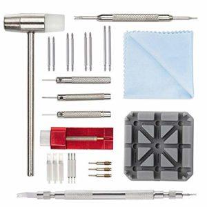 Kit de Réparation Montre Professionnel – Montre Bracelet Lien Pin Remover Kit de Réparation d'Outils de Watch Band pour Les Horlogers (11pcs)