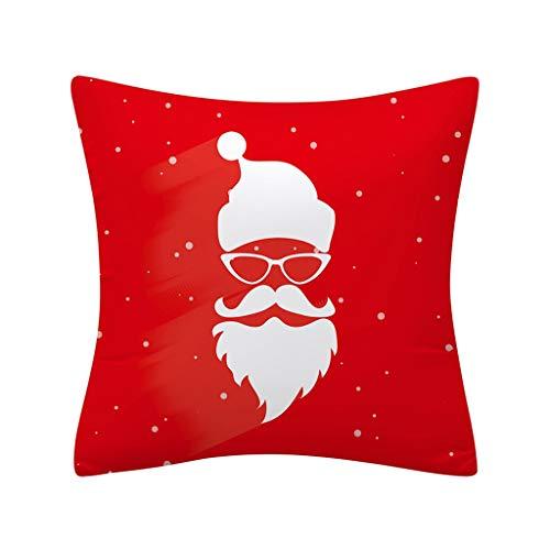 Longzjhd Taie d'oreiller de Noël Paillettes Polyester canapé Throw décor Maison Decoration Noel Voitureré De Noël Taie d'oreiller Accueil Voitures Décor Canapé Housse De Coussin Deco Noel