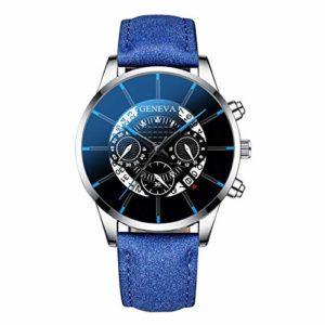 ManlinG7* Montre Homme Analogique Quartz Mode de Sport Bracelet Montres d'affaires avec Bande en Acier Inoxydable Cadeau Élégant