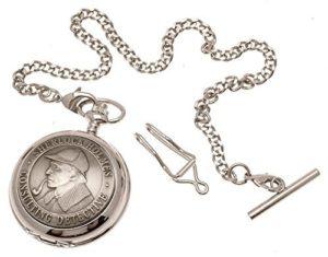 Montre de Poche–Avant en étain massif mécanique squelette montre de poche–Sherlock Holmes design 40