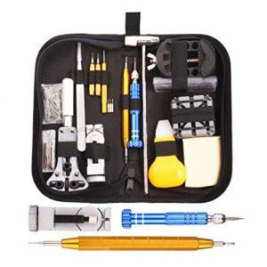 Montres Kit, GUSODOR Professional Multi-Tool Trousse D'outils de Montre Tool Kits et Outils de Réparation à Outils Parfait pour Débutants Professionnels Horlogers Collecteurs