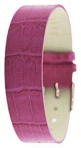 Moog – CR-12RG – Time to Change – Bracelet Montre Femme – Cuir de Vachette façon Croco Rose