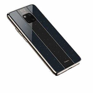 Nadoli Glitter Coque pour Huawei Mate 20 Pro,Cool Hommes Femmes Contraste Couleur Difficile PC Retour + Doux TPU Cadre Brillant Housse Etui de Protection pour Huawei Mate 20 Pro