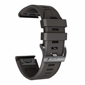NotoCity Bracelet Compatible Garmin Fenix 3 avec Fermoir à Ressort, 26 mm Bracelet en Silicone à Ajustement Facile Compatible Fenix 5X / Fenix 5X Plus/Fenix 3 / Fenix 3 HR