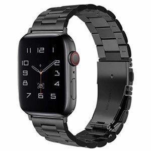 Oitom Bracelets compatibles avec Les Montres Apple Watch 38mm / 42mm Bracelets en Acier Inoxydable à maillons en métal Bracelet compatibles Apple Watch série 5/4/3/2/1 Bracelet Apple Watch Bracelet.