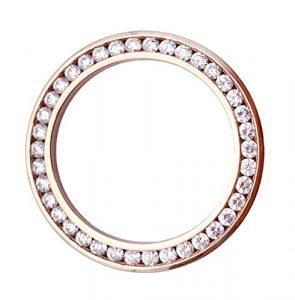 Or Rose 14 carats 4cttw sertie de Diamants pour Rolex Watch