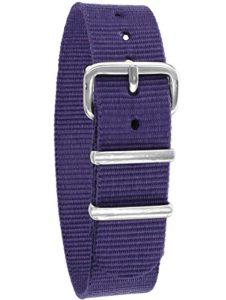 Pacific Time 10001 Bracelet de montre de rechange en textile avec boucle ardillon Violet
