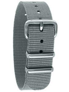 Pacific Time 10005 Bracelet de Montre de Rechange en Textile avec Boucle ardillon de Rechange Gris