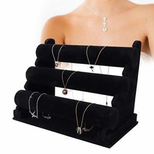 Porte-Bracelet, Support de Montre Amovible, Organisateur pour Afficher Le Collier de Montre, Bijoux pour Femmes et Hommes en Noir (1#)