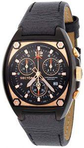 Sector – R3251992227 – Série 500 – Montre Homme – Analogique – Chronographe – Bracelet Cuir