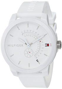 Tommy Hilfiger Mixte Analogique Quartz Montre avec Bracelet en Silicone 1791481