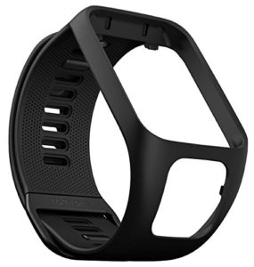 TomTom – Bracelet pour Montre TomTom RUNNER 3, SPARK 3, RUNNER 2 & SPARK – Taille Fin – Noir