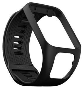 TomTom – Bracelet pour Montre TomTom RUNNER 3, SPARK 3, RUNNER 2 & SPARK – Taille Large – Noir