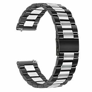TRUMiRR Galaxy Watch 46mm/Gear S3 Bande de Montre, 22mm Bracelet de Montre en Acier Inoxydable pour Samsung Galaxy Watch 46mm, Gear S3 Classic Frontier