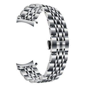 TRUMiRR Samsung Galaxy Watch 46 mm Bande de Montre, 22mm en Acier Inoxydable Montre Bracelet à extrémité courbée Bracelet Papillon Boucle amsung Gear S3 Classic/Frontier
