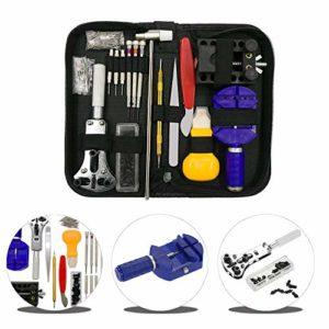 Urxtral 144pièce montre kit de réparation Outil Professionnel de barre à ressort Lot de