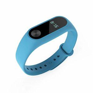 WMFL Sangle pour Xiaomi Mi2Smart Bracelet, Bande Sangle de Bracelet en Silicone de Rechange pour Xiaomi 2Smart Bracelet