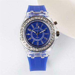 XINGPENGME Ecole Jongen Meisje Elektronische Kleurrijke Lichtbron Horloges Zus Broer Verjaardag Enfants Cadeau Mode Klok Kinderen Polshorloge (Kleur : Blue)