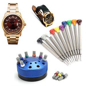 ZJchao Tournevis de Montre en métal de qualité, Kit de réparation d'outils de réparation de Montre pour enlever Les couvercles de Montre pour horlogers Lunettes de téléphone Portable