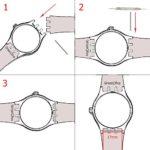 17mm de remplacement étanche en caoutchouc de silicone Bracelet de montre bracelet de montre (Bleu marine + Bleu)