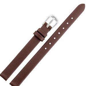 6mm Marron Cuir véritable pour Femme Bracelet de Montre Band Montre-Bracelet