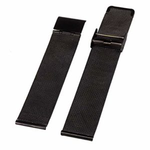 Alienwork bracelet Bracelet maille milanaise Acier inoxydable noir