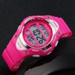 ALPS Digital Digital-Analogique Etanche Sport Montre pour Fille(Rose)