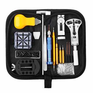 Baban Montre Kit, 147 Pcs Outil de Réparation Montre Kit D'horlogerie Kits de Réparation Watch Repair Tool pour Montre