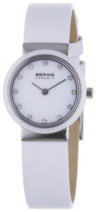 Bering Time – 10725-854 – Montre Femme – Quartz Analogique – Bracelet Cuir Blanc