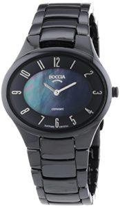 Boccia – 3216-02 – Montre Femme – Quartz Analogique – Bracelet céramique Noir