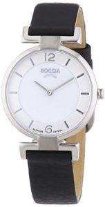 Boccia – B3238-01 – Montre Femme – Quartz Analogique – Bracelet Cuir Noir