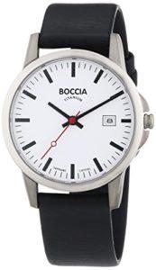 Boccia – B604-18 – Montre Garçon – Quartz Analogique – Bracelet Cuir Noir