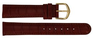 Bracelet de Rechange Citime en Cuir, Marron Effet Alligator, Bande 18mm – B18BroItr84G